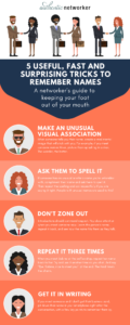 Infographic of 5 Tricks to Remember Names